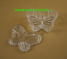 SET OF 12 CLEAR Acrylic BUTTERFLY BOXES for Wedding or Birthday Favors