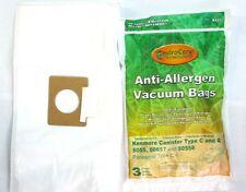 Kenmore Canister Allergen Cloth Vacuum Bags Fits C, Q, 50558, 50557, 5055,