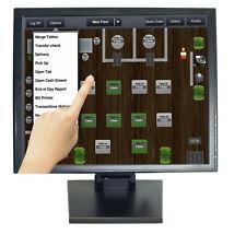 "17"" Touch Screen POS Monitor Retail Restaurant Bar Pub Touchscreen Kiosk w Stand"