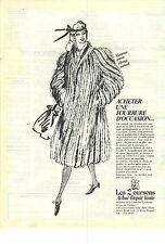 PUBLICITE ADVERTISING  1982  LES DEUX OURSONS à PARIS dépot vente d'occasion