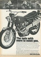 1969 Honda 450 Scrambler Motorcycle The Twin with More To Move You Print Ad