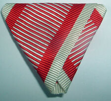 MEDAL RIBBON-GOOD TRIFOLDED RIBBON AUSTRO-HUNGARIAN BRAVERY MEDAL