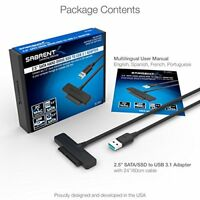 Sabrent USB 3.1  Type-A  to SSD   2.5-Inch SATA Hard Drive Adapter [Optimized Fo