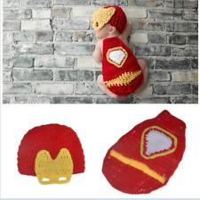 Girls Boys Newborn Baby Infant Iron man Hat Photo Photography Props Knit