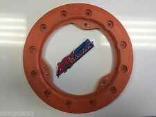 "Hiper 9"" Modified Bead Lock Ring Wheel Ring CF1/Tech 3 Orange Beadlock Mud Plug"