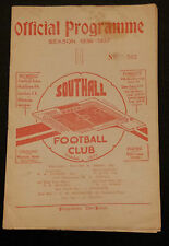1936/37 Athenian League: SOUTHALL v SUTTON UTD
