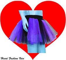 Purple Black 2 tone tutu skirt Teen Adult Dark Queen bat Dance Party Halloween