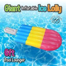 GRANDE GONFIABILE ICE Lolly GIGANTE Piscina Sole Spiaggia Lilo reclinabile a letto gonfiabile UK