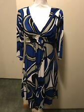 Bisou Bisou 12 Nwt Print Dress