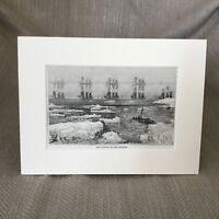 Optical Illusion Mirage Effect Sea Ships Antique Print  Ca. 1890