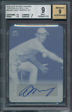 2016 Leaf ANDY MURRAY Autograph Cyan Printing Plate 1/1 Auto BGS 9 [BBE]