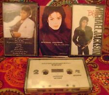 4 MICHAEL JACKSON Cassette Tapes+ THRILLER bad VICTORY you are not alone+ WoRk