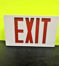 Red LED Emergency Exit Light Sign - Battery Backup NIB w/ FREE SHIPPING