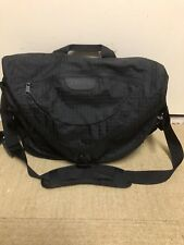 LL BEAN BLACK LARGE MESSENGER SHOULDER CROSS BODY BAG