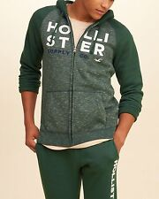 MENS GUYS HOLLISTER BY ABERCROMBIE SIZE XL COLORBLOCK GRAPHIC ZIP UP HOODIE NWT