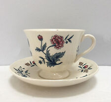 Wedgwood Williamsburg Potpourri Tea Cup and Saucer Set England