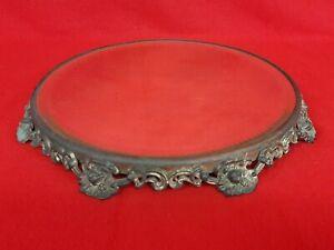 "Antique Ornate Base Dresser Tray Mirror 10"" Beveled Vanity"