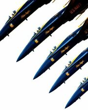 BLUE ANGELS F-18 DEMONSTRATION TIGHT FORMATION 8x10 SILVER HALIDE PHOTO PRINT