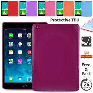 "Silicone TPU Tab Back Case Flexible Cover For iPad Air 1/2 iPad/2/3/4 Pro 9.7"""