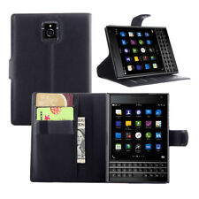 ETUI A RABAT BLACKBERRY PASSPORT Q30 NOIR BLACK PORTE CARTE CUIR SIMILI (PU)