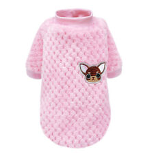Cozy Plush Padded Cat Dog Sweater Dog Clothes Winter Puppy Small Cat Dog Jumper