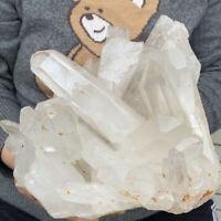 11.2LB Huge Natural Clear White Quartz Crystal Cluster Rough Specimen Healing