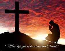 Religious Healing Motivational Poster Art Print  Inspirational Christian  RELG29