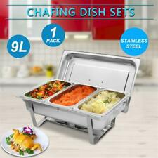 9L Buffet Catering Stainless Steel Chafer Chafing Dish 8Qt Christmas Party New