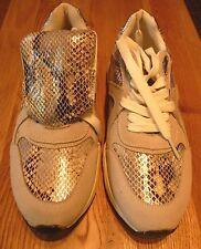 Sergio Todzi Womens Snake Effect Silver Trainer Shoes Size 5/38 BNWT Uk Freepost