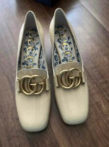 Gucci Malaga Patent Leather Heels Loafers Shoes Size 36 IT