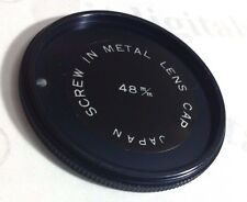 48mm Metal Screw-in Front Lens Cap Fits Filter Safety Dust Glass Cover Japan U&S