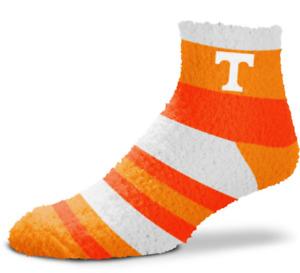 Tennessee Volunteers Orange & White Rainbow Stripe Soft Fuzzy Socks