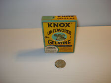 VINTAGE COLLECTIBLE SPICE ~ KNOX UNFLAVORED GELATINE ~  1 OZ. SEALED BOX