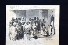 Cucina economica di beneficienza in Berlino Incisione del 1871