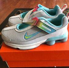 Girls Nike Shox Slip On Gym Tennis Shoes Blue, Gray, Pink Size 11 NIB