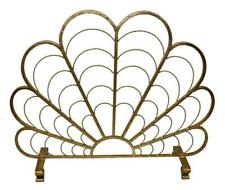 "Fireplace Screens - ""Ocean View"" Scallop Shell Fire Screen - Italian Gold"