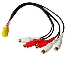 Connecteur fiche adaptateur mini ISO 6PIN vers 5X RCA pour autoradio subwoofer