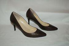 Worn once LAUREN Ralph Lauren Dark Brown Leather Valentina court shoes EU39