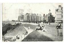 Postcard (Madeira Walk) and Upper Leas Folkstone 1918 FOLKSTONE Machine Postmark