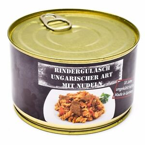 Emergency ration army survival food canned Hungarian beef goulash  400g can