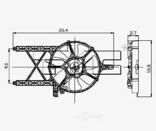 Engine Cooling Fan Blade TYC 610960