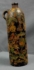 ANTIQUE CERAMIC POTTERY ENAMEL DECORATED BOTTLE JUG GOOD CONDITION