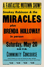 Motown: Smokey Robinson & The Miracles at San Diego Concert Poster 1967