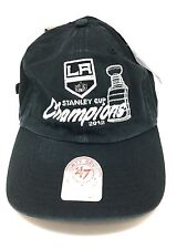 aaf490af419ab0 LA Kings 47 Brand NHL Hockey 2012 Stanley Cup Champs Cap Dad Slouch Hat One  Size
