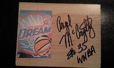 ANGEL MCCOUGHTRY Signed Floor Tile DREAM Basketball WNBA Altlanta FREE SHIPPING