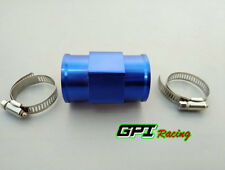 "34MM 1.34"" Water Temp Gauge Radiator Sensor Adaptor Attachment Aluminum blue"