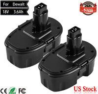 2X 3.6AH Replace for Dewalt 18V 18 volt Battery pack DC9096 DC9099 DC9098 drills