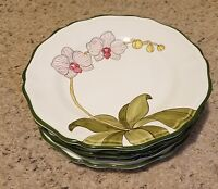 "Present Tense ORCHID GARDEN  LIGHT PINK 11 1/8"" Dinner Plates Set of 5"