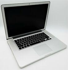 "Apple Mid-2009 15.4"" MacBook Pro A1286 C2D T9600 2.80GHz 4GB RAM 120GB SSD MacOS"