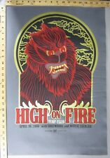 2006 Rock Concert Poster High on Fire Goatwhore Squad19 S/N LE-100 Turf Club